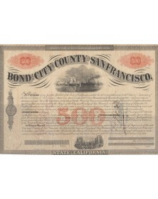 Bond of the City of San Francisco. 7% Bond 1863