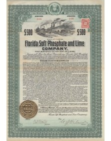 Florida Soft Phosphate and Lime Company - First Mortgage 6% Gold Bond
