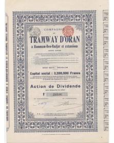 Cie du Tramway d'Oran à Hammam-Bou-Hadjar & Extensions