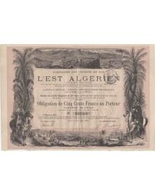 Cie des Chemins de Fer de l'Est Algérien. 1884