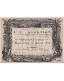 Cie des Chemins de Fer de l'Est Algérien. 1878