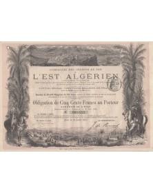 Cie des Chemins de Fer de l'Est Algérien. 1881