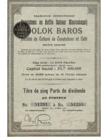 DOLOK BAROS Sté. de Culture de Caoutchouc et Café