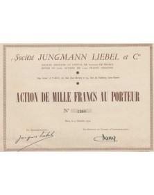 Sté Jungmann Liebel et Cie