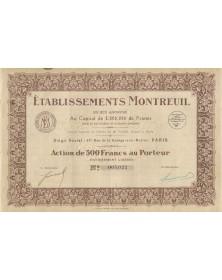 Ets Montreuil (produits pharmaceutiques)