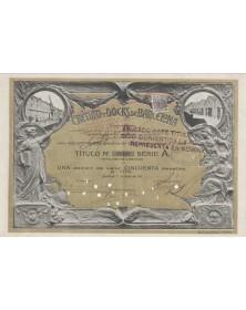 Credito y Docks de Barcelona S.A. - 1 Action 1919