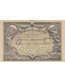 Credito y Docks de Barcelona S.A. - 10 Shares certificate 1910