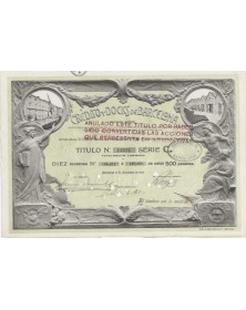 Credito y Docks de Barcelona S.A. - 10 Shares certificate 1919