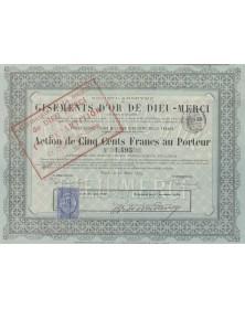 S.A. des Gisements d'Or de Dieu-Merci (Guyane Française)
