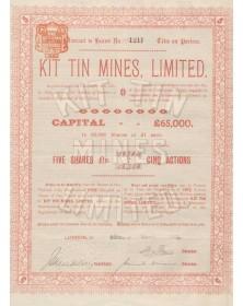 Kit Tin Mines, Ltd. (Cornouailles)
