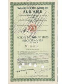 Cie Générale Immobilière Sud-Asie (anciennement Cie Générale Immobilière de Saïgon)