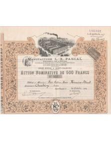 Manufacture L.- X. PASCAL, Saint-Chamond 1894.