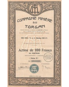 Compagnie Minière du Torgan. 1930