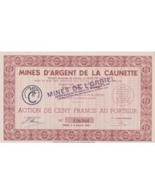 Mines d'Argent de la Caunette / Mines de l'Orbiel. 1947