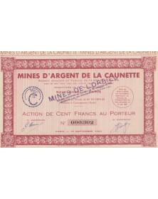 Mines d'Argent de la Caunette / Mines de l'Orbiel. 1943