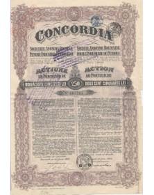 Concordia S.A. Roumaine pour l'Industrie du Pétrole. 1923 - Tampons Belges