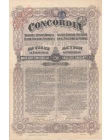 Concordia S.A. Roumaine pour l'Industrie du Pétrole. 1924 - Tampons Belges