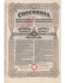 Concordia S.A. Roumaine pour l'Industrie du Pétrole. 1922. EF
