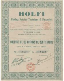 HOLFI Holding Spéciale Technique & Financière