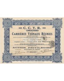 CCYR, Cimenteries et Carrières Yernaux Réunies