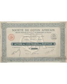 Sté du Coton Africain