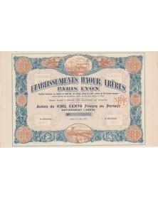 Etablissements Haour Frères Paris Lyon