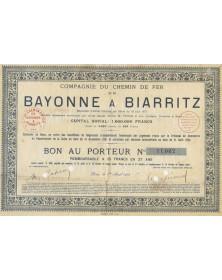 Cie du Chemin de Fer de Bayonne à Biarritz