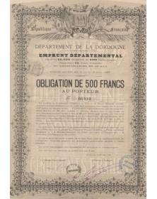 Département de la Dordogne - Emprunt Départemantal