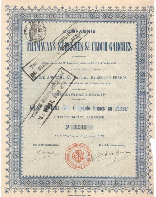 Cie des Tramways Suresnes-St-Cloud-Garches