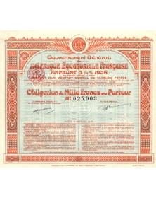 Gouvernement Général de l'Afrique Equatoriale Française - 5.5% Loan 1936