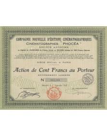 """Cie Nouvelle d'Editions Cinématographiques """"Phocéa"""". Head office in Paris"""