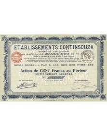 Ets Continsouza. 1922