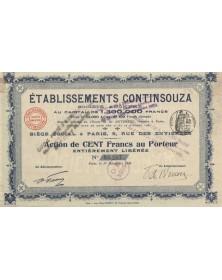 Ets Continsouza. 1909
