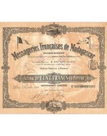 Messageries Françaises de Madagascar. 1898