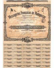 Messageries Françaises de Madagascar. 1900
