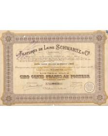 Filatures de Laine Schwartz & Cie. 1922