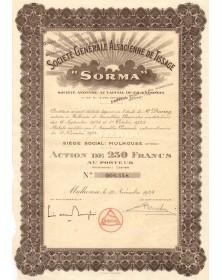 Sté Générale Alsacienne de Tissage (SORMA). 1924