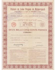 Filature de Laine Peignée de Malmerspach (délivré à la famille Peugeot)