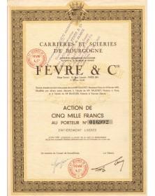 Carrières et Scieries de Bourgogne Fèvre & Cie