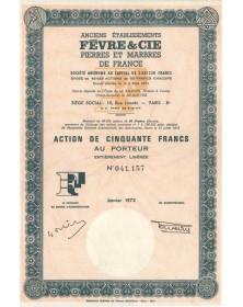 Anciens Ets Fèvre & Cie, Pierres et Marbres de France