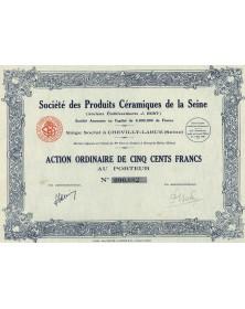 Sté des Produits Céramiques de la Seine (Anciens Ets J. Bohy)