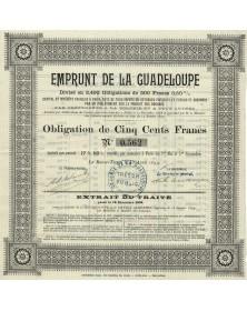 Emprunt de la Guadeloupe (Caisse du Crédit Algérien)