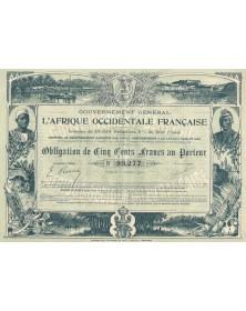 Gouvernement Général de l'Afrique Occidentale Française. 1905