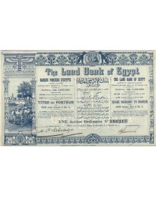 The Land Bank of Egypt. Banque Foncière d'Egypte (Capital 1000K€)