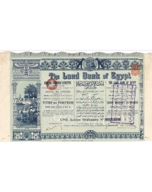 The Land Bank of Egypt. Banque Foncière d'Egypte (Capital 1000K€). 1931
