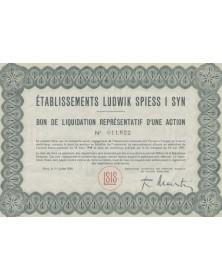 Ets Ludwik Spiess I Syn (Produits chimiques)