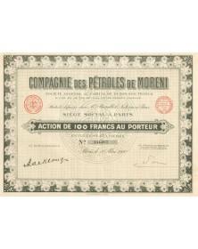 Compagnie des Pétroles de Moreni. 1930