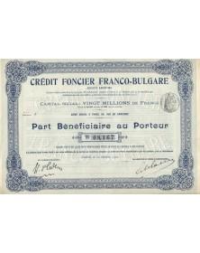 Crédit Foncier Franco-Bulgare. 1912