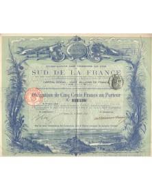 Cie des Chemins de Fer du Sud de la France. 1891