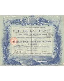 Cie des Chemins de Fer du Sud de la France. 1888